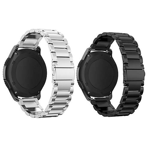 Купить со скидкой Ремешок для часов для Gear S3 Frontier Samsung Galaxy Спортивный ремешок Нержавеющая сталь Повязка н