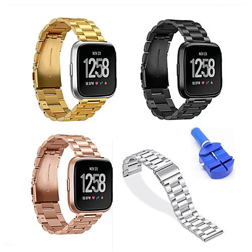 Ремешок для часов для Fitbit Versa Fitbit Бабочка Пряжка Нержавеющая сталь Повязка на запястье фото