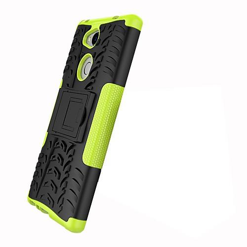 Кейс для Назначение Sony Xperia XZ2 Xperia L2 Защита от удара со стендом броня Кейс на заднюю панель Плитка броня Твердый ПК для Xperia наушник sony sbh54 золотой