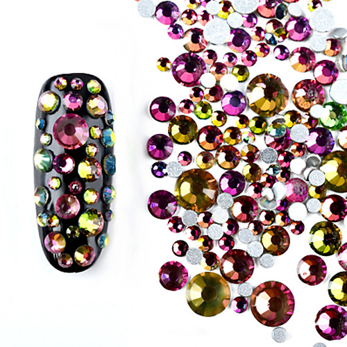 800 pcs Украшения для ногтей горный хрусталь Мерцание На каждый день Дизайн ногтей