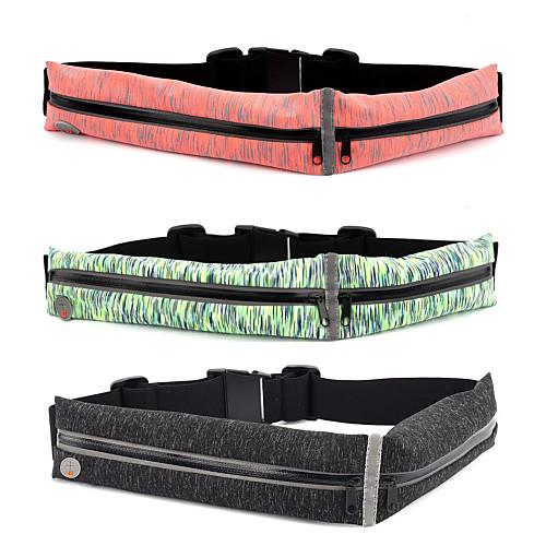 Поясные сумки - Легкие, Дожденепроницаемый, Многофункциональный Йога, Бег Черный, Красный, Зеленый