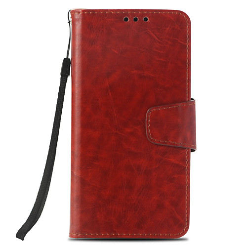Кейс для Назначение LG K8 (2017) / K10 (2017) Бумажник для карт / Кошелек / со стендом Чехол Однотонный Твердый Кожа PU для LG X Style / кейс для назначение lg k10 2018 g7 бумажник для карт кошелек со стендом чехол дерево твердый кожа pu для lg v30 lg v20 lg q6