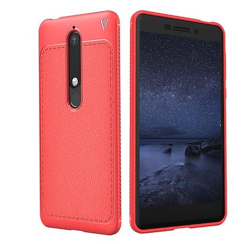 Кейс для Назначение Nokia 8 Sirocco / Nokia 6 2018 Рельефный Кейс на заднюю панель Однотонный Мягкий ТПУ для 8 Sirocco / Nokia 7 Plus /