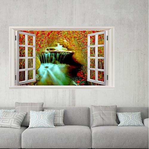 Декоративные наклейки на стены / Наклейки на холодильник - 3D наклейки Пейзаж / Цветочные мотивы / ботанический Спальня / Кабинет / Офис