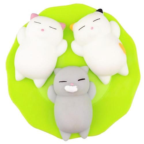 LT.Squishies Резиновые игрушки / Устройства для снятия стресса Кошка Товары для офиса / Декомпрессионные игрушки Others 3pcs Детские Все все для офиса