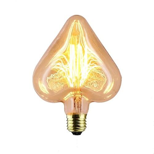 1шт 40W E26 / E27 Звезда Теплый Желтый 2000k Stripes / Рябь / Декоративная Лампа накаливания Vintage Эдисон лампочка 220-240V