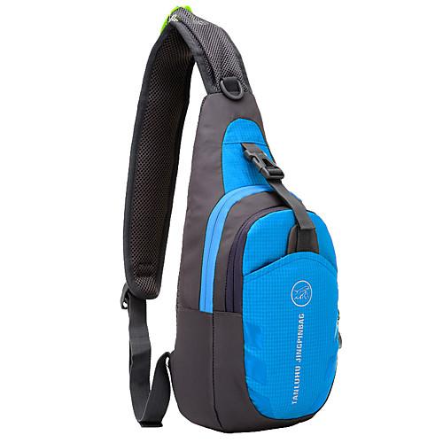 6L Слинг сумки на ремне - Легкие, Дожденепроницаемый, Пригодно для носки Пешеходный туризм, Походы Оксфорд Красный, Зеленый, Синий