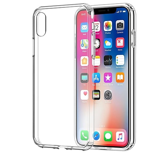 Кейс для Назначение Apple iPhone X / iPhone 7 Прозрачный Кейс на заднюю панель Однотонный Мягкий ТПУ для iPhone X / iPhone 8 Pluss /