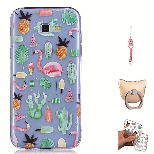 Case For Samsung Galaxy A7(2017) / A5(2016) Transparent / Pattern Back Cover Flamingo Soft TPU for A5(2018) / A3(2017) / A5(2017)