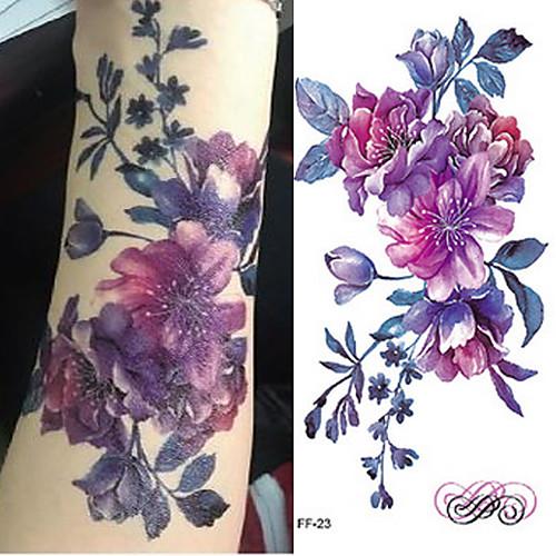 3pcs Стикер Тату с цветами / Романтическая серия Временные тату тату рукава в владимире