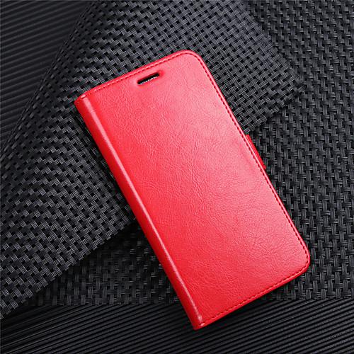 Кейс для Назначение HTC HTC Desire 12 / HTC Desire 12 Кошелек / Бумажник для карт / Флип Чехол Однотонный Твердый Кожа PU для HTC U11 htc gt 606a электробритва