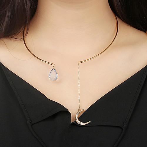 Жен. MOON Ожерелья-бархатки - Богемные Круглый Золотой 20cm Ожерелье Назначение Подарок Для вечеринок Для улицы