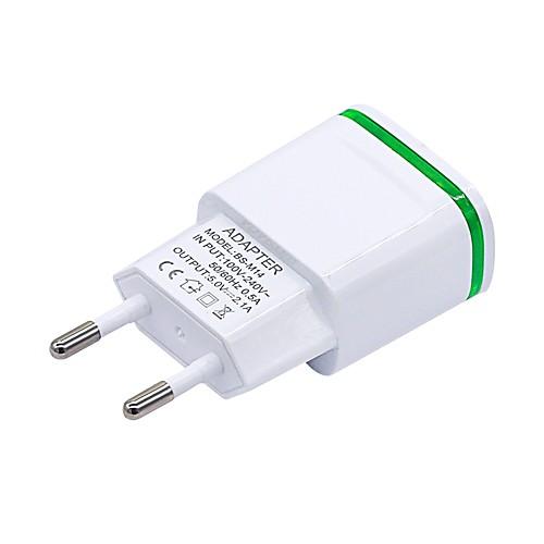 Док-зарядное устройство Телефон USB-зарядное устройство Евро стандарт / USB Несколько разъемов / QC 3.0 2 USB порта 1A / 2.1A 110~220V zus qc