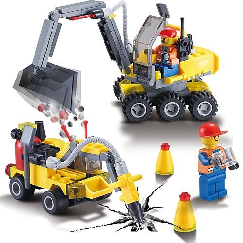 Конструкторы 196pcs Строительная техника Высокое качество Строительная техника Подарок kdw строительная техника колесный погрузчик игрушечные грузовики и строительная техника игрушечные машинки машинки с инерционным