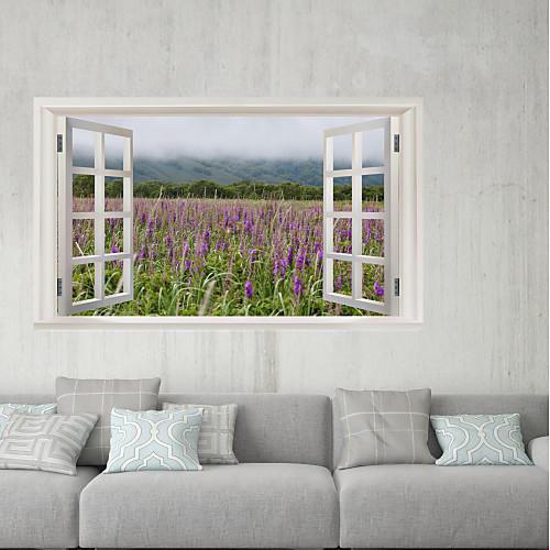 Декоративные наклейки на стены / Наклейки на холодильник - 3D наклейки Пейзаж / Цветочные мотивы / ботанический Ванная комната / Детская