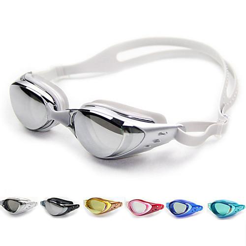 плавательные очки Противо-туманное покрытие / Регулируемый размер / Водонепроницаемость силикагель Поликарбонат белый / черный /