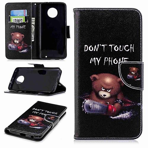 Кейс для Назначение Motorola MOTO G6 / Moto G6 Plus Кошелек / Бумажник для карт / со стендом Чехол Слова / выражения Твердый Кожа PU для