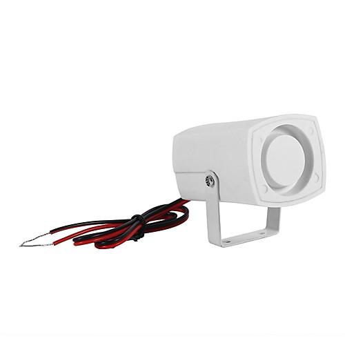 sh-201 мини-звуковой сигнал сирены 120db звуковой сигнал тревоги dc 12v проводная крытая сирена для домашней сигнализации открытый водонепроницаемый внешний сигнал строба сирены охранной сигнализации