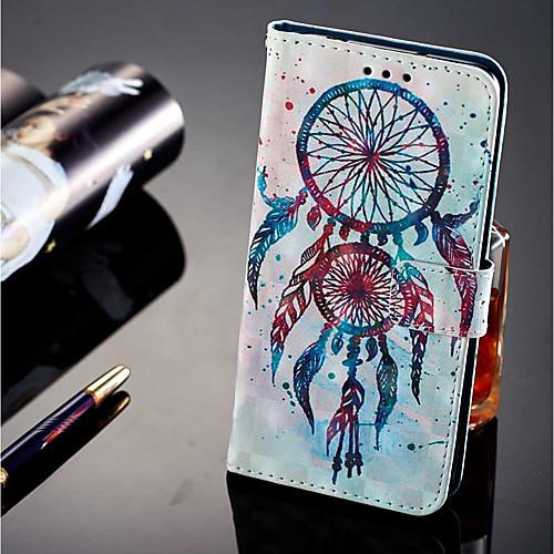 Кейс для Назначение Huawei P20 lite P20 Pro Бумажник для карт Кошелек со стендом Флип Магнитный Чехол Ловец снов Твердый Кожа PU для