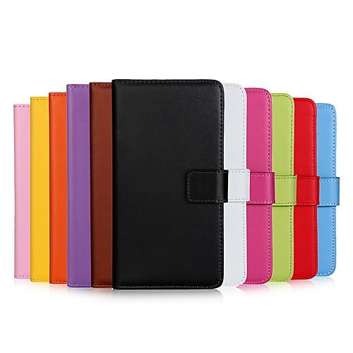 Кейс для Назначение Huawei P20 lite  P20 Бумажник для карт  Кошелек  Флип Чехол Однотонный Твердый Кожа PU для Huawei P20 lite