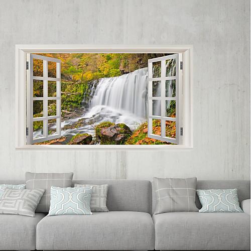 Декоративные наклейки на стены / Наклейки на холодильник - 3D наклейки Пейзаж / Цветочные мотивы / ботанический Гостиная / Ванная комната