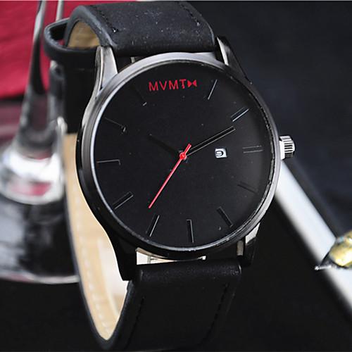 miniinthebox / Hombre Mujer Reloj de Pulsera Cuarzo Cuero Sintético Acolchado Negro / Marrón Calendario Reloj Casual Analógico Moda Minimalista - Marrón negro Negro / Blanco Blanco / Marrón