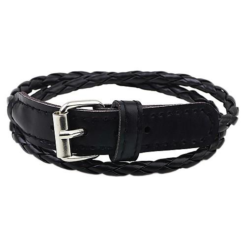 Муж. Кожаные браслеты - Классический / Мода Белый / Черный / Коричневый Браслеты Назначение Официальные / Для улицы браслеты