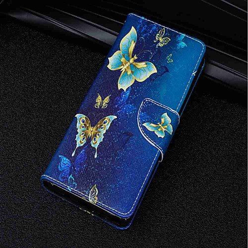 Кейс для Назначение Sony Xperia XA2 Ultra / Xperia XZ2 Бумажник для карт / Кошелек / со стендом Чехол Бабочка Твердый Кожа PU для Xperia смартфон sony xperia xa1 ultra dual