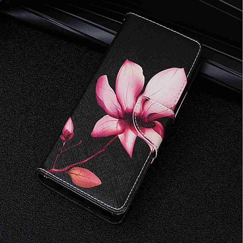Кейс для Назначение Sony Xperia XA2 Ultra / Xperia XZ2 Бумажник для карт / Кошелек / со стендом Чехол Цветы Твердый Кожа PU для Xperia смартфон sony xperia xa1 ultra dual
