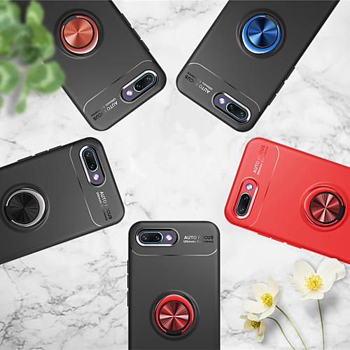 Кейс для Назначение Huawei Honor 10 / Honor View 10(Honor V10) Кольца-держатели Кейс на заднюю панель Однотонный Мягкий ТПУ для Huawei Honor 10 / Honor 9 / Huawei Honor 9 Lite фото