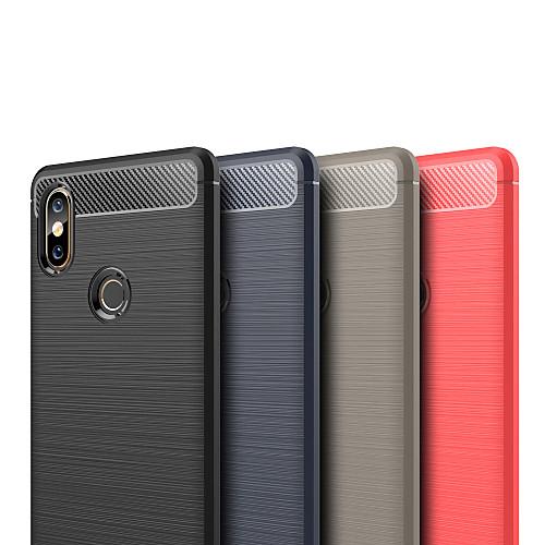 Кейс для Назначение Xiaomi Mi Mix 2 / Xiaomi Mi Mix 2S Рельефный Кейс на заднюю панель Однотонный Мягкий ТПУ для Xiaomi Mi Mix 2 / Xiaomi Mi Mix 2S