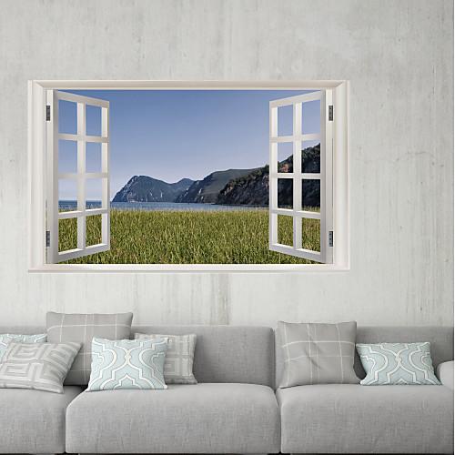 Декоративные наклейки на стены / Наклейки на холодильник - 3D наклейки Пейзаж / 3D Гостиная / В помещении