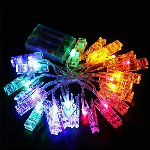 1,5 м Гирлянды 10 светодиоды Тёплый белый / Холодный белый / RGB Декоративная 220-240V цена