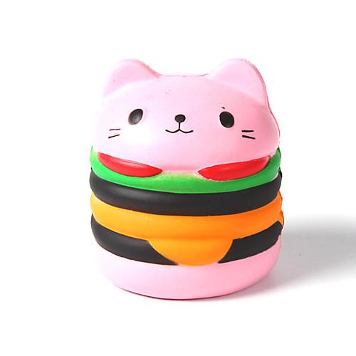 Резиновые игрушки / Устройства для снятия стресса Кошка / Гамбургер Стресс и тревога помощи / Декомпрессионные игрушки Others 1pcs Детские