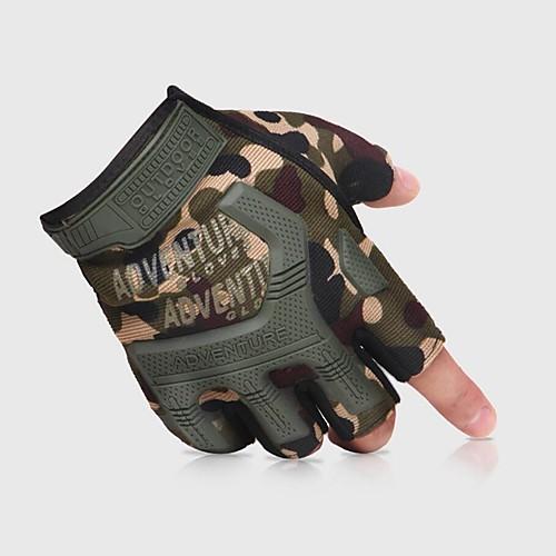 перчатки Перчатки для скалолазания Спортивные перчатки Нейлон силикагель Дышащая сетка Ударопрочный Регулируемый размер Дышащий Толстые Антипробуксовочная