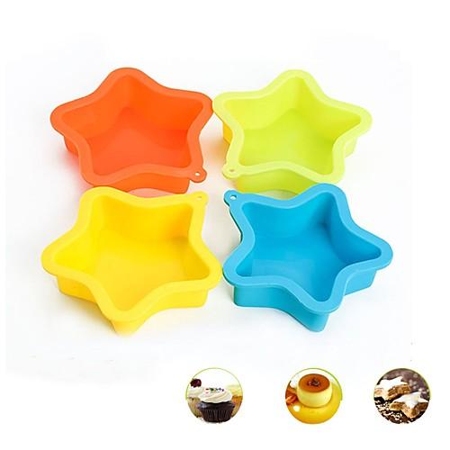 Инструменты для выпечки Силикон Творчество / Своими руками Cupcake / Шоколад / Лед Формы для пирожных / Формы для нарезки печенья 1шт цена
