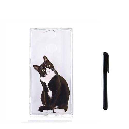Кейс для Назначение Sony Xperia L2 Xperia L1 Полупрозрачный Кейс на заднюю панель Кот Животное Мягкий ТПУ для Xperia XZ1 Compact Sony мобильный телефон sony xperia xa1 ultra dual sim черный