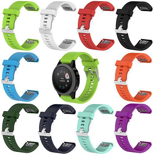 Ремешок для часов для Fenix 5s Quickfit / Fenix 5s Garmin Спортивный ремешок силиконовый Повязка на запястье смарт часы garmin умные часы fenix 5s серебристые с бирюзовым ремешком