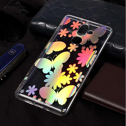 Кейс для Назначение Nokia Nokia 7 Plus / Nokia 6 2018 Покрытие / С узором Кейс на заднюю панель Бабочка Мягкий ТПУ для Nokia 7 Plus / nokia c5 03