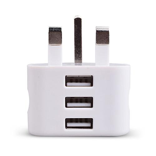 Фото Портативное зарядное устройство Зарядное устройство USB Стандарт Великобритании 3 USB порта 2.1 A 100~240 V зарядное