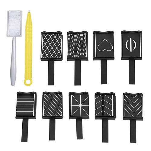 11pcs маникюр Инструменты сделай-сам / Инструменты рисования Neon & Bright Несколько цветов Повседневные Прочие инструменты инструменты