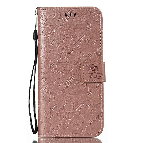 Кейс для Назначение Xiaomi Redmi Примечание 5A / Mi 6X Бумажник для карт / Кошелек / со стендом Чехол Однотонный / единорогом Твердый matte protective pe back case for htc one x s720e red