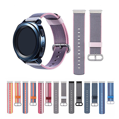Ремешок для часов для Gear S3 Frontier / Gear S3 Classic / Gear 2 R380 Samsung Galaxy Спортивный ремешок Нейлон Повязка на запястье 22mm nylon watchband zulu strap tool for moto 360 2 46mm men samsung gear 2 r380 r381 r382 fabric wrist belt bracelet 6 colors
