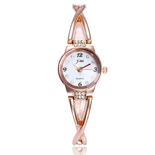 Жен. Наручные часы / Часы-браслет Китайский Имитация Алмазный / Повседневные часы сплав Группа минималист / Мода Серебристый металл /