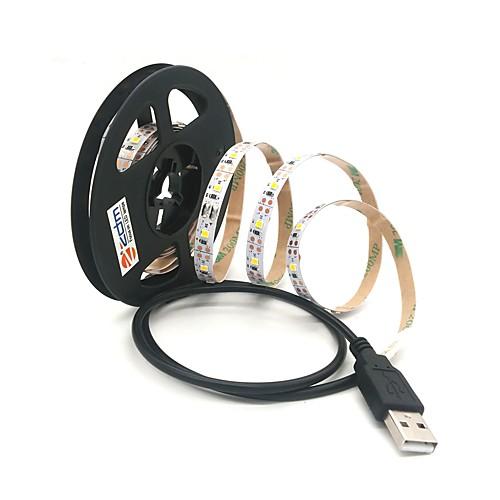 ZDM 1m Гирлянды 300 светодиоды Тёплый белый / Холодный белый Можно резать / USB / Компонуемый Работает от USB 1шт цена