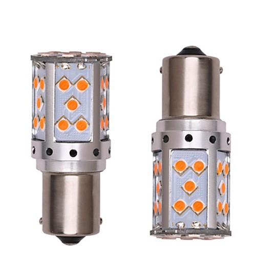 2pcs 1156 Автомобиль / Мотоцикл Лампы 35W SMD 3030 2800lm 35 Светодиодная лампа Лампа поворотного сигнала / Фары дневного света For