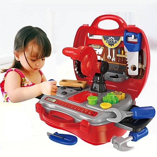 Игрушечные инструменты / Ящики для инструментов Творчество / Взаимодействие родителей и детей Детские / дошкольный Подарок 19pcs