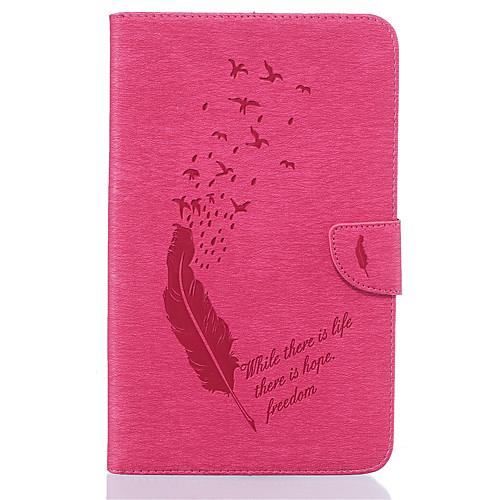 Кейс для Назначение SSamsung Galaxy Tab E 8.0 Бумажник для карт Кошелек со стендом С узором Авто Режим сна / Пробуждение Чехол Перья держатели в авто lola держатель для телефона в авто