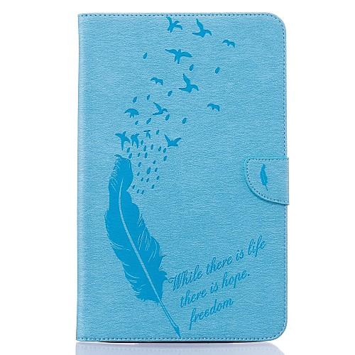 Кейс для Назначение SSamsung Galaxy Tab E 9.6 Бумажник для карт Кошелек со стендом С узором Авто Режим сна / Пробуждение Чехол Перья держатели в авто lola держатель для телефона в авто