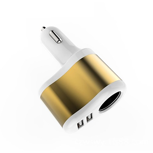 Автомобильное зарядное устройство Зарядное устройство USB USB Несколько разъемов / QC 3.0 2 USB порта 2.1 A DC 12V-24V zus qc